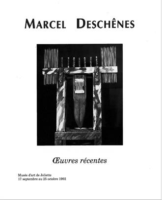 Marcel Deschênes.Œuvres récentes