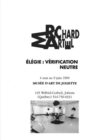 Richard Martel.Élégie : vérification neutre