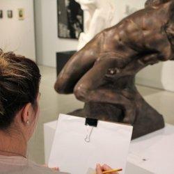 Croquis en salle, Musée d'art de Joliette, 2018.